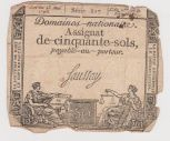 Assignat de 50 sols du 23 mai 1793, sources : doc pero