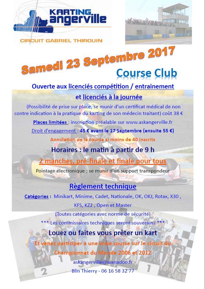 affiche course club Angerville