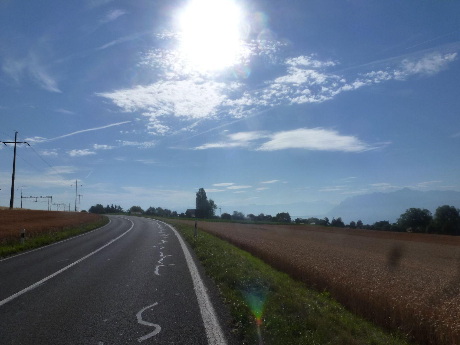 6 juillet 2014 - Tour du Léman solo... caniculaire