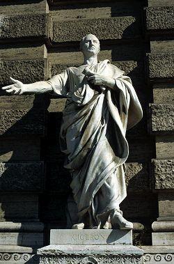 Cicéron, philosophe et homme politique romain qui s'est notamment distingué par ses talents d'orateur.