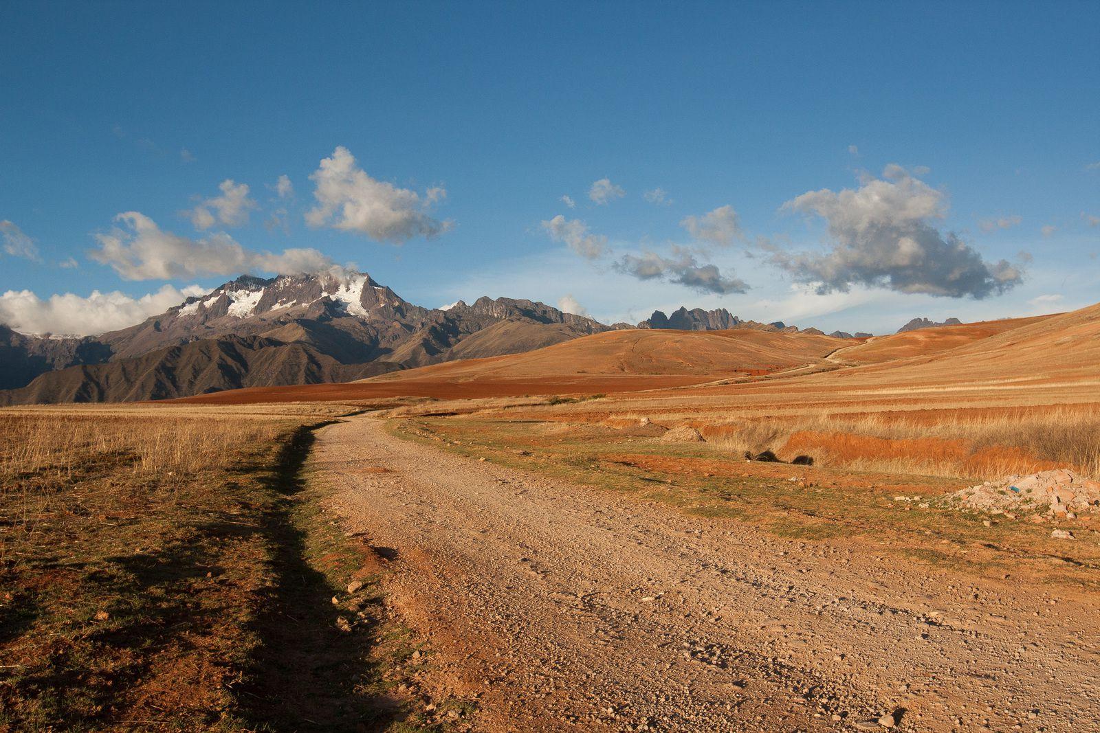 Fin de journée dans la vallée sacrée, près de Cusco