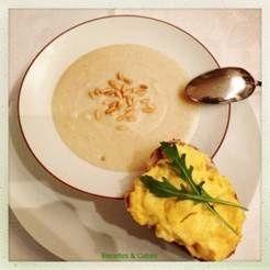 Recette Best Off : soupe aux panais et aux poires, tartine brouillée