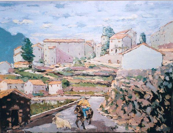 U Pighjolu vu du Fragnu, tableau de Jean Pinelli