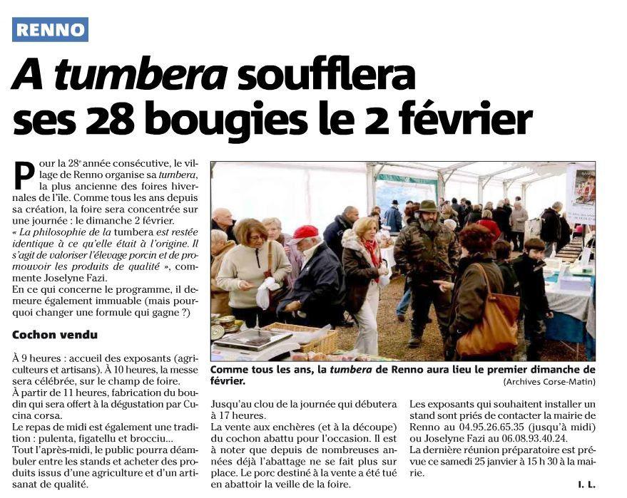 """(article paru dans """"Corse-Matin"""" vendredi 24 janvier 2014) cliquer sur l'image pour l'agrandir."""