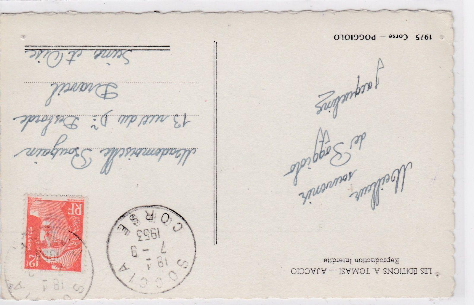 La seule carte postale d'après-guerre