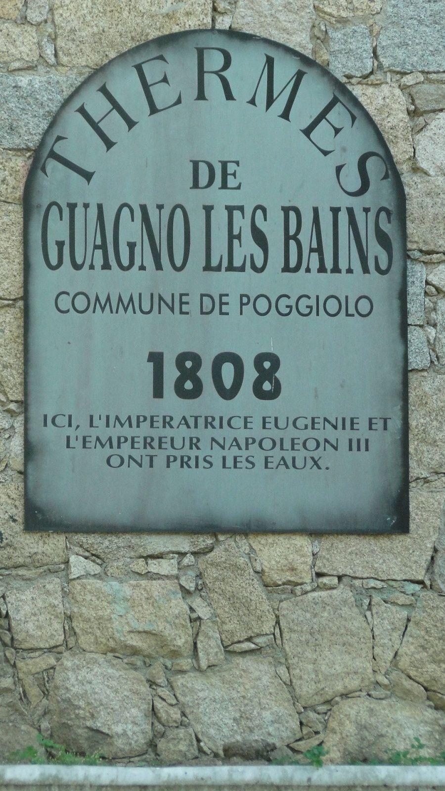 Napoléon Ier à Guagno-les-bains et pas Napoléon III (1/2)