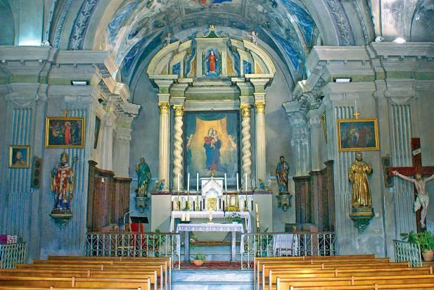 intérieur de l'église de Soccia