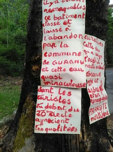 Un nouveau panneau d'affichage à Guagno-les-Bains