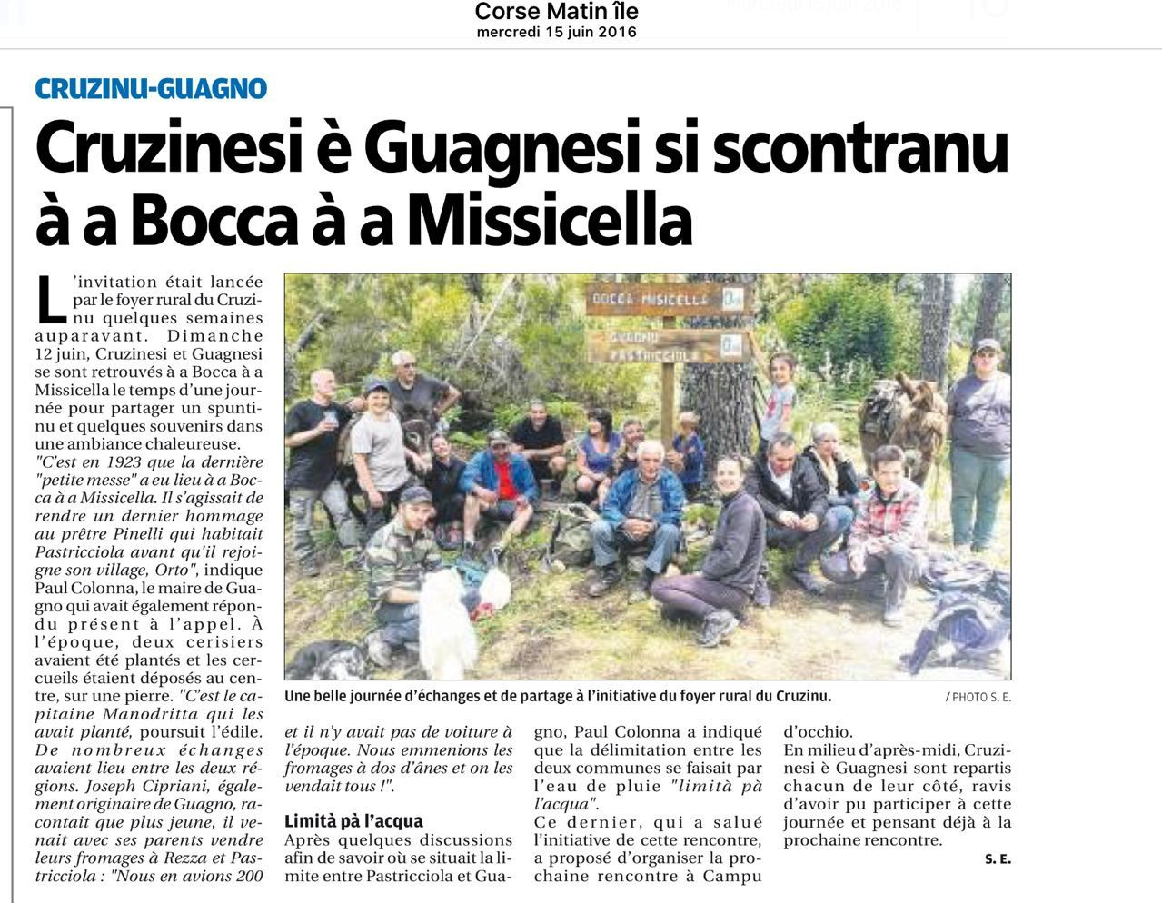 Missicella, trait d'union entre les villages