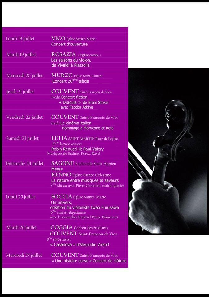 SORRU IN MUSICA...le programme 2016