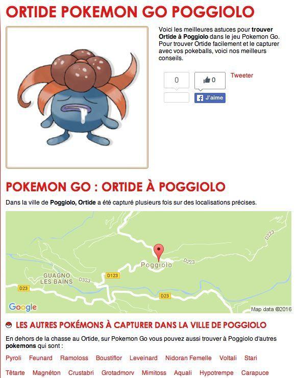 Les Pokemon sont dans nos villages