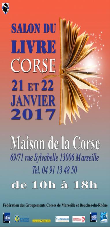 Rappel: le salon du livre corse à Marseille les 21 et 22 janvier