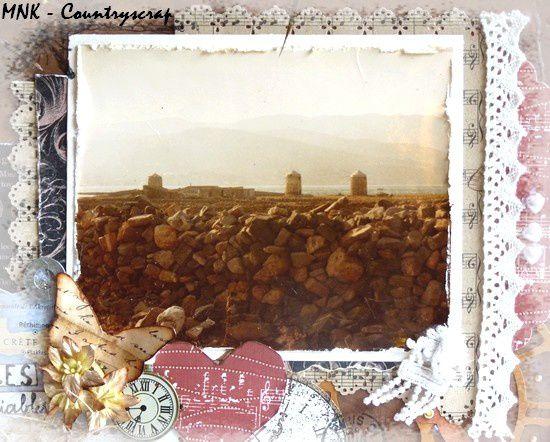 Des moulins dans la campagne crétoise ....
