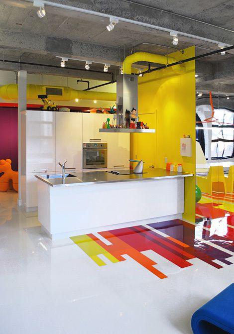 Un loft plein de couleurs