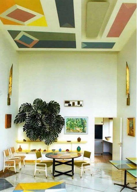 Changement rapide d'un intérieur - peindre le plafond