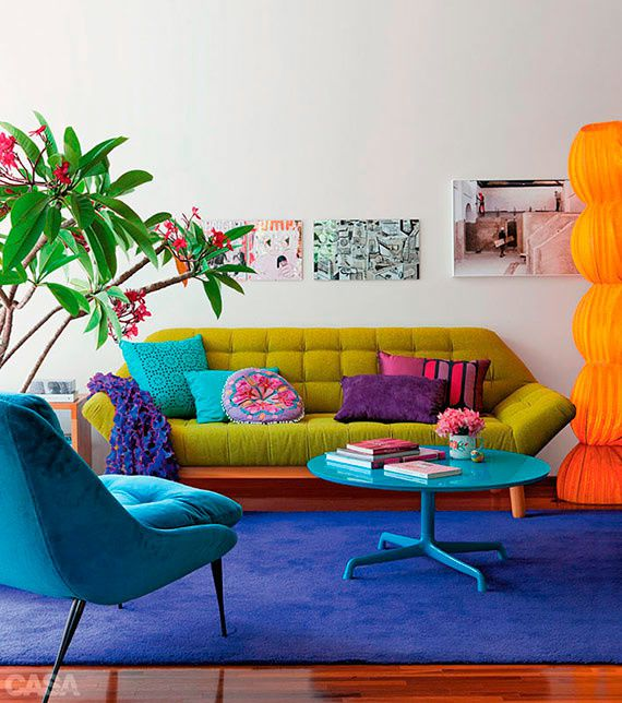 Un appartement plein de couleurs