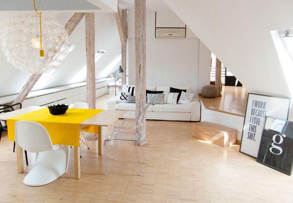 Un appartement polonais sous les combles mille m tres carr s - Appartement sous comble ...