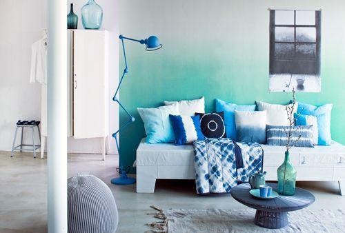 Un mur turquoise