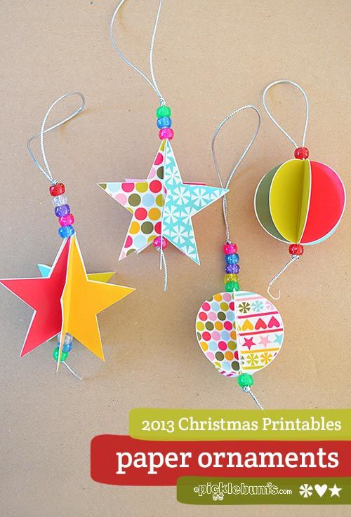 diy dcoration de nol en papier - Decoration De Noel En Papier