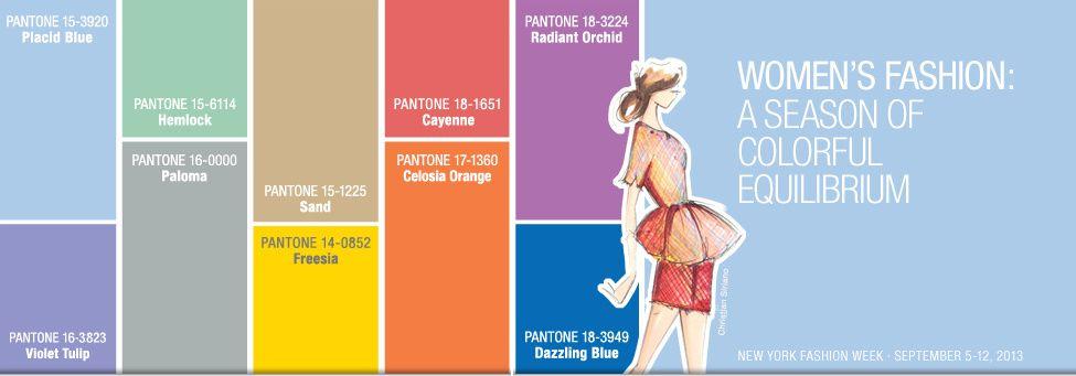 Palette de couleurs tendance 2014 selon Pantone