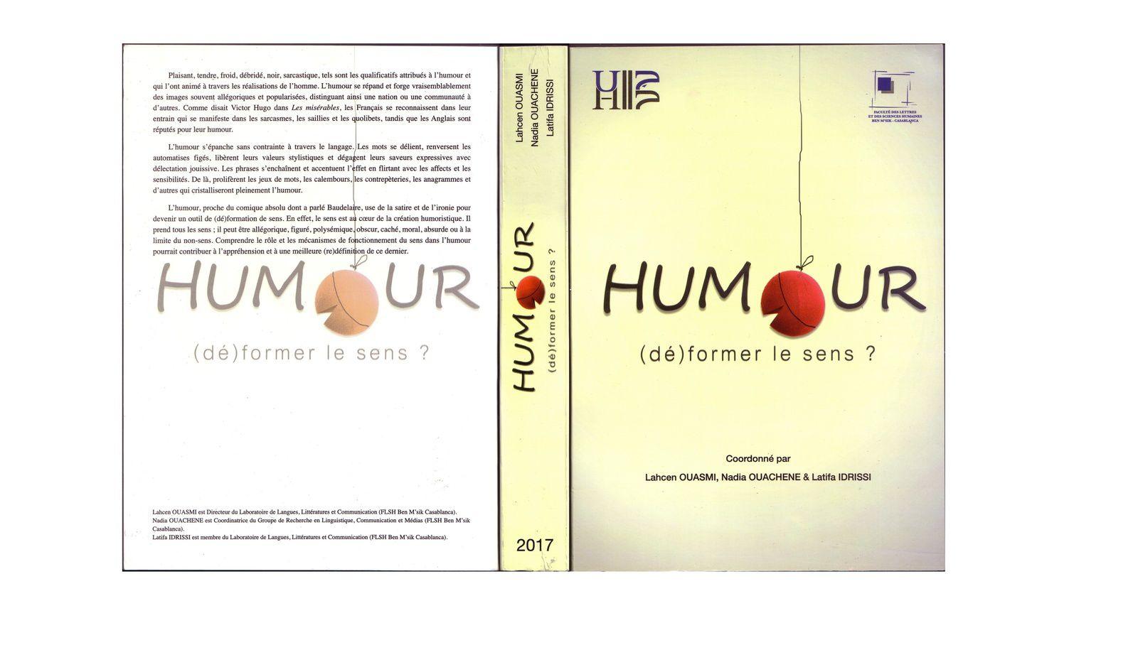 Parution des actes du colloque &quot&#x3B;Humour, (dé)former le sens ?