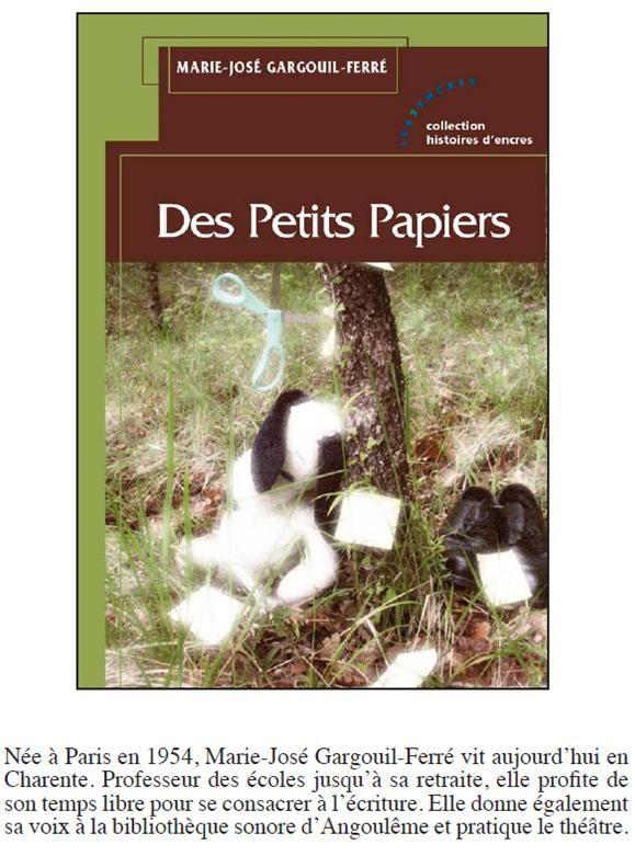 Le deuxième livre de Marie-Jo Ferré sort le 20 Juillet 2013