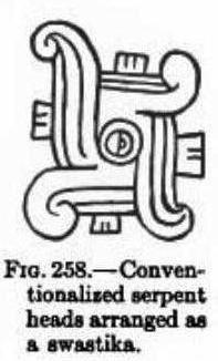 Serpent maya stylisé en svastika
