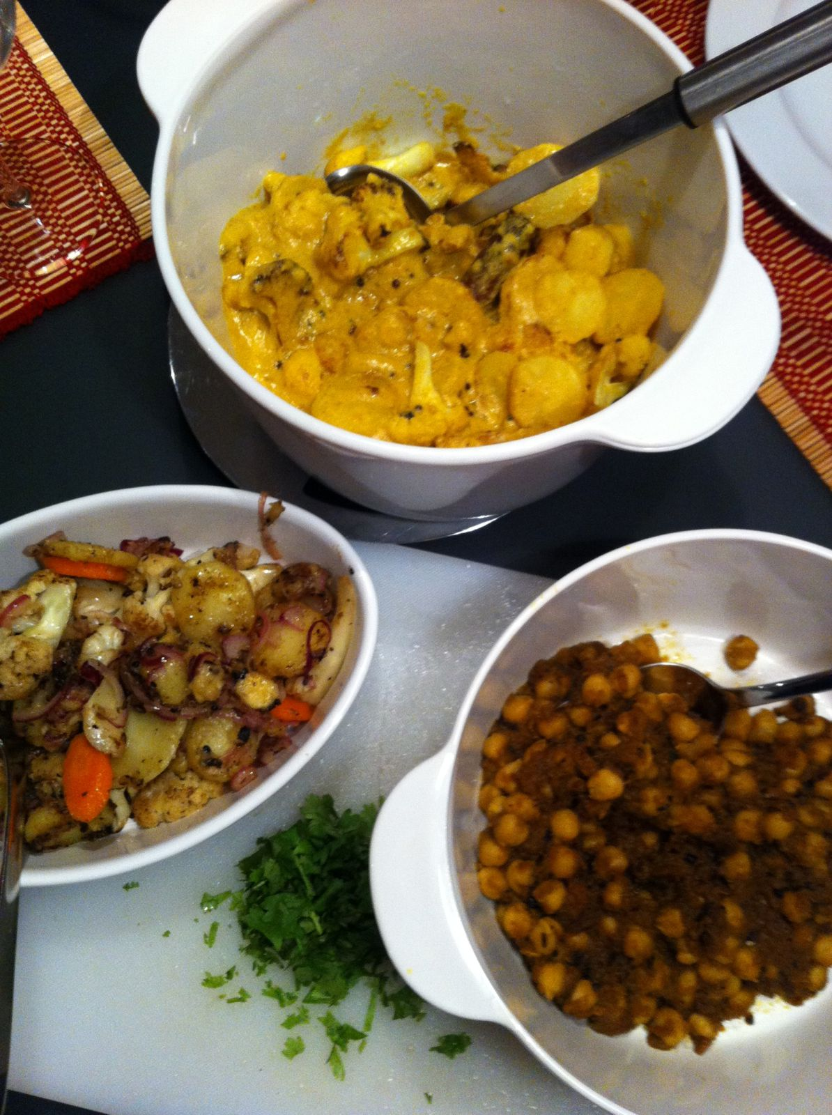 Indian dishes, switz table, english speaking post for ...