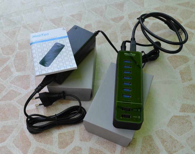 Multiports 3.0 et chargeur  HOOTOO HT-UH010
