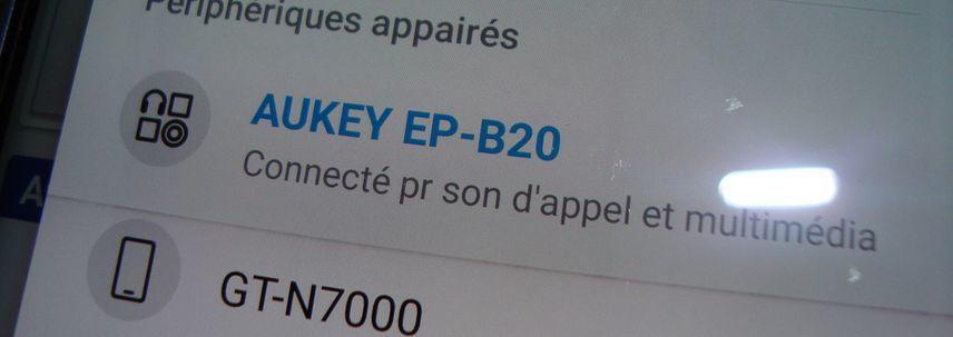 DISTRIBUE PAR TIANYUE DAZZLING, LE CASQUE (ou OREILLETTES ! ) EP-B20 AUKEY
