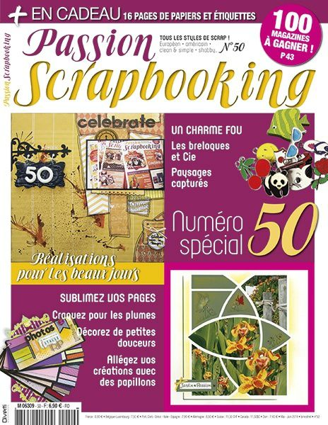 Ma 1er publication : passion scrapbooking