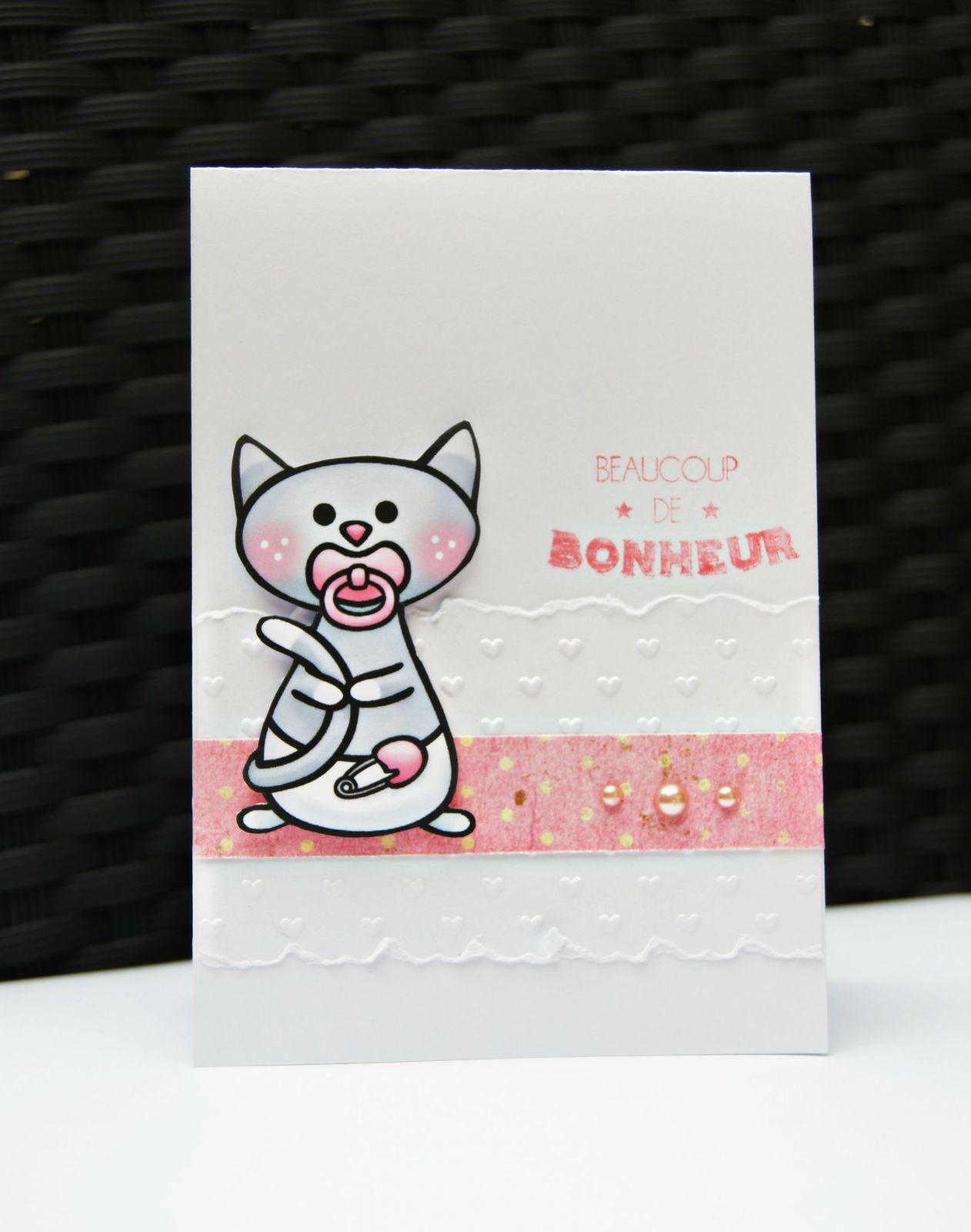 4 cartes : des chatons