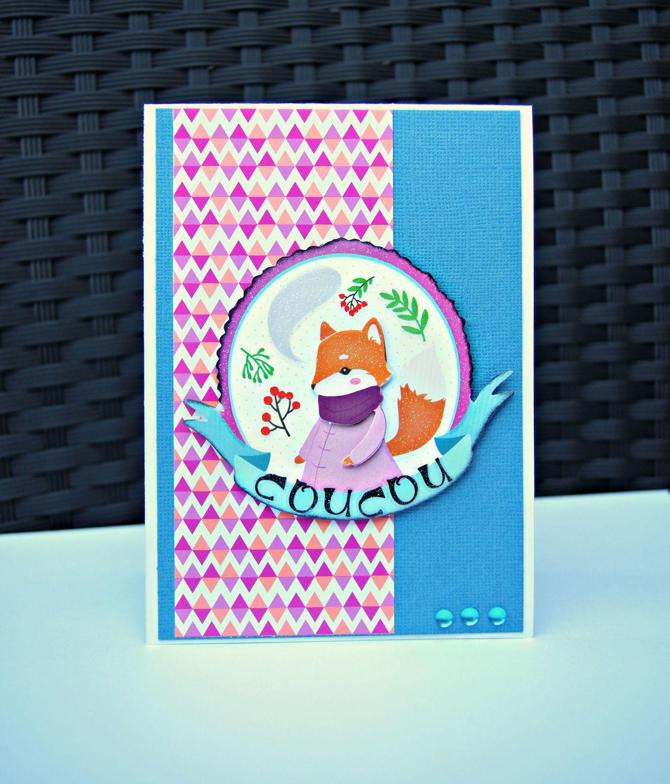 3 cartes &quot&#x3B; animaux de la forêt&quot&#x3B;