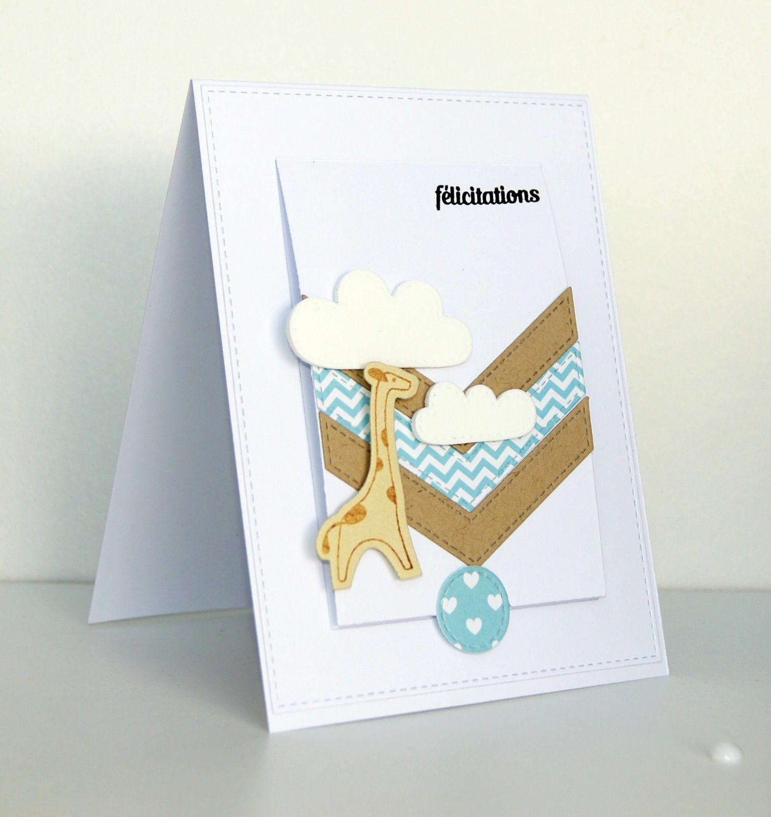 carte de naissance : motif girafe