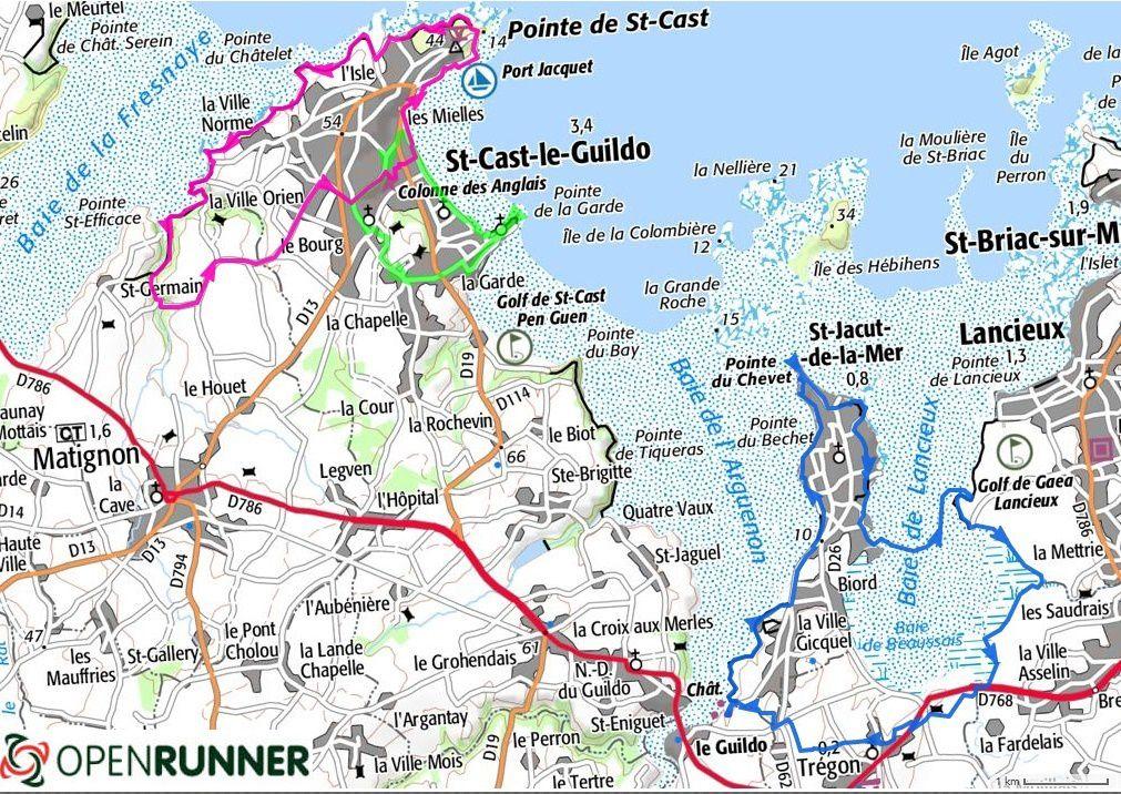 Carte de localisation de nos randonnées