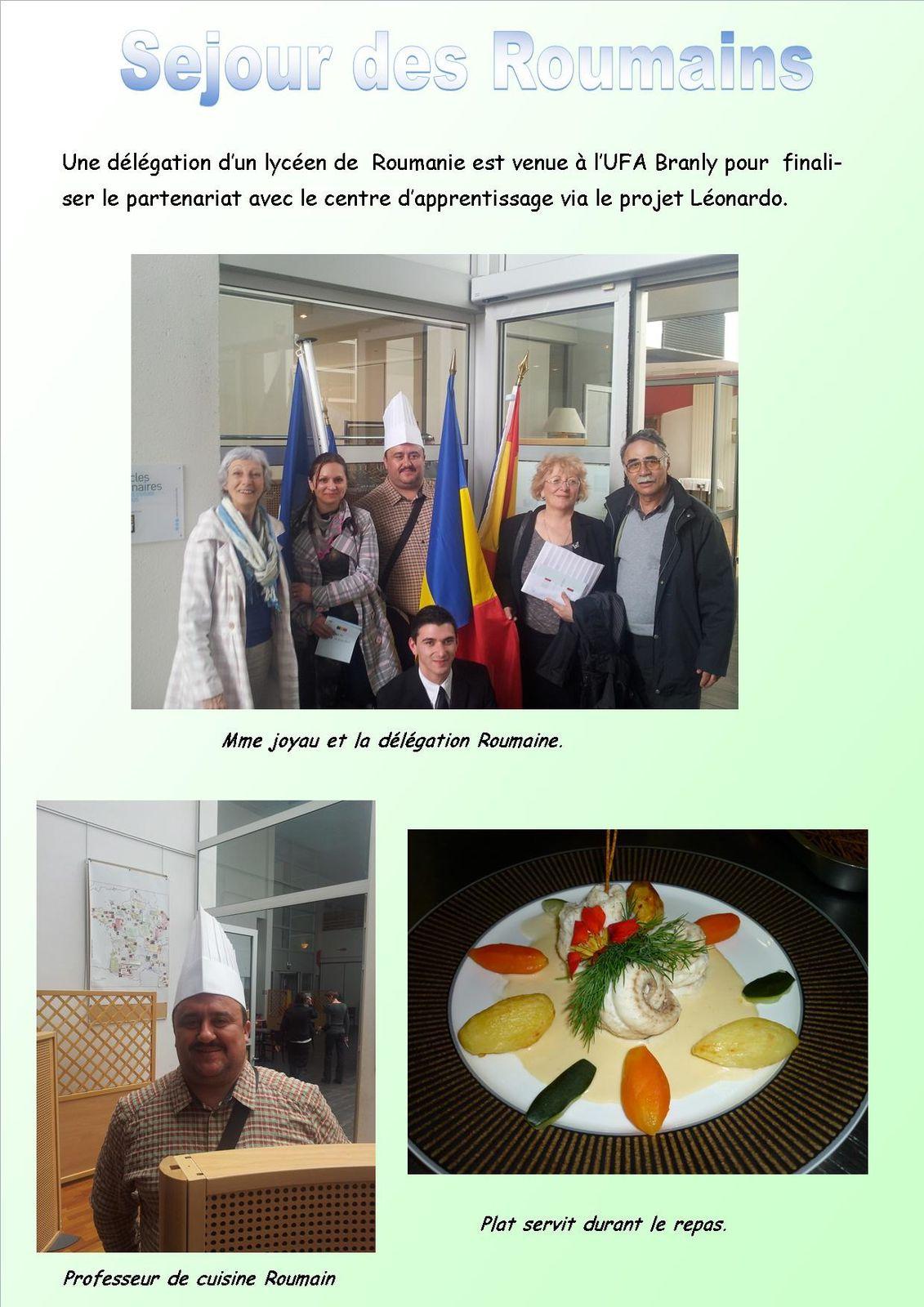 Sejour des Roumains pour finaliser le projet Léonardo