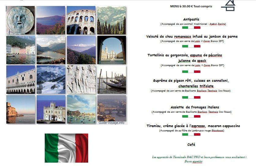 Soirée Italie 5 février 2014