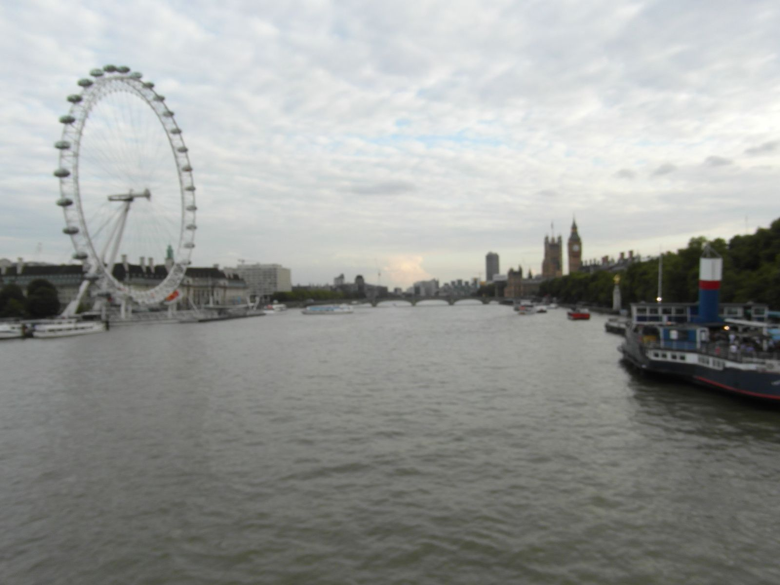 London Eye et Big Ben depuis le pont