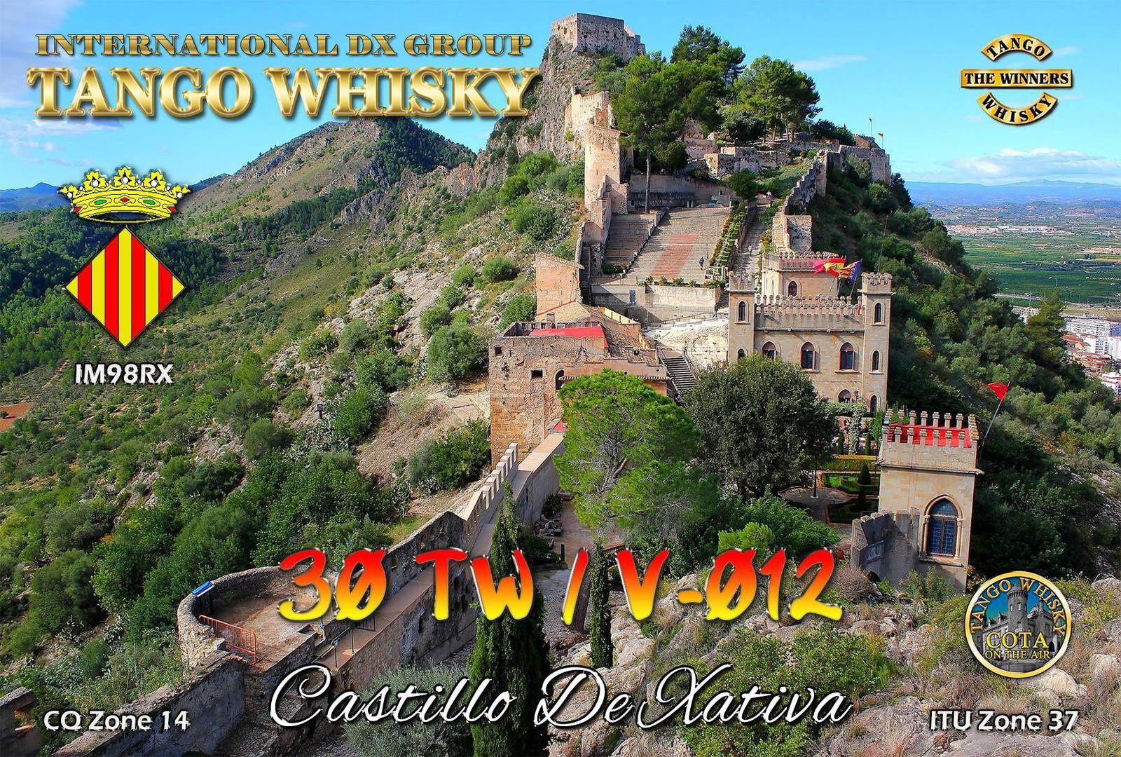 QSL pour confirmation du château.