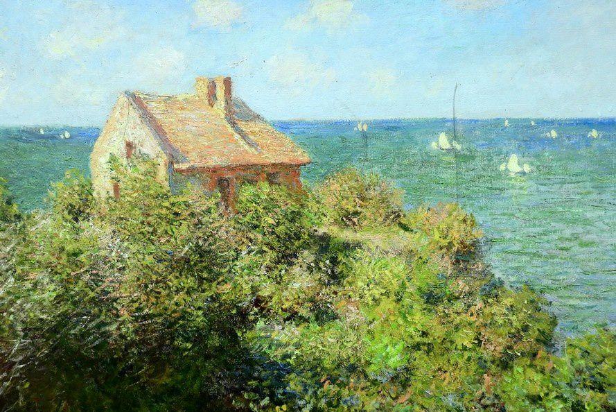 La cabane du douanier - Claude Monet - La cabane a été détruite, ne reste plus que le tableau