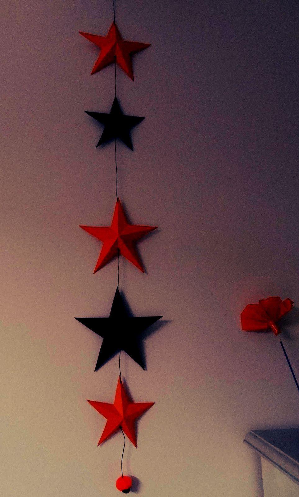 une guirlande d'étoiles en relief