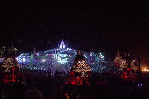 le main stage d Ozora night and day