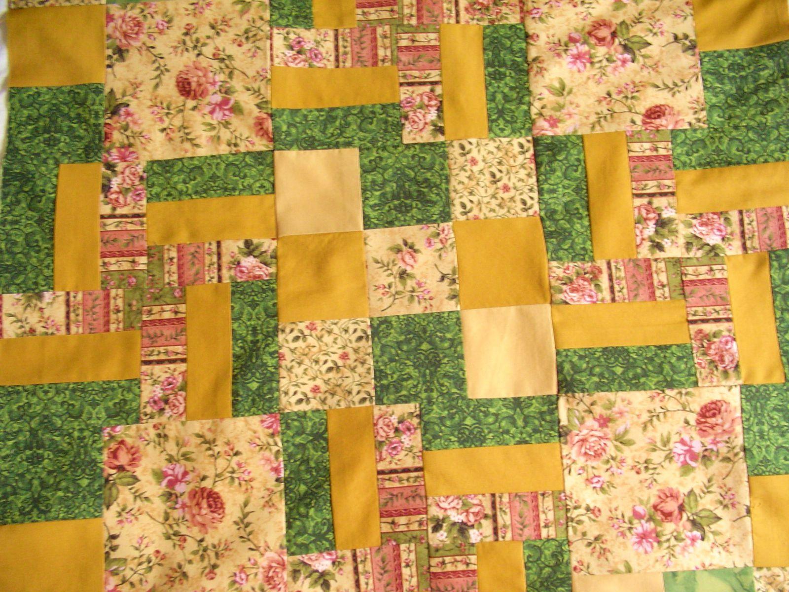 Mon 1er patchwork (pas terminé)