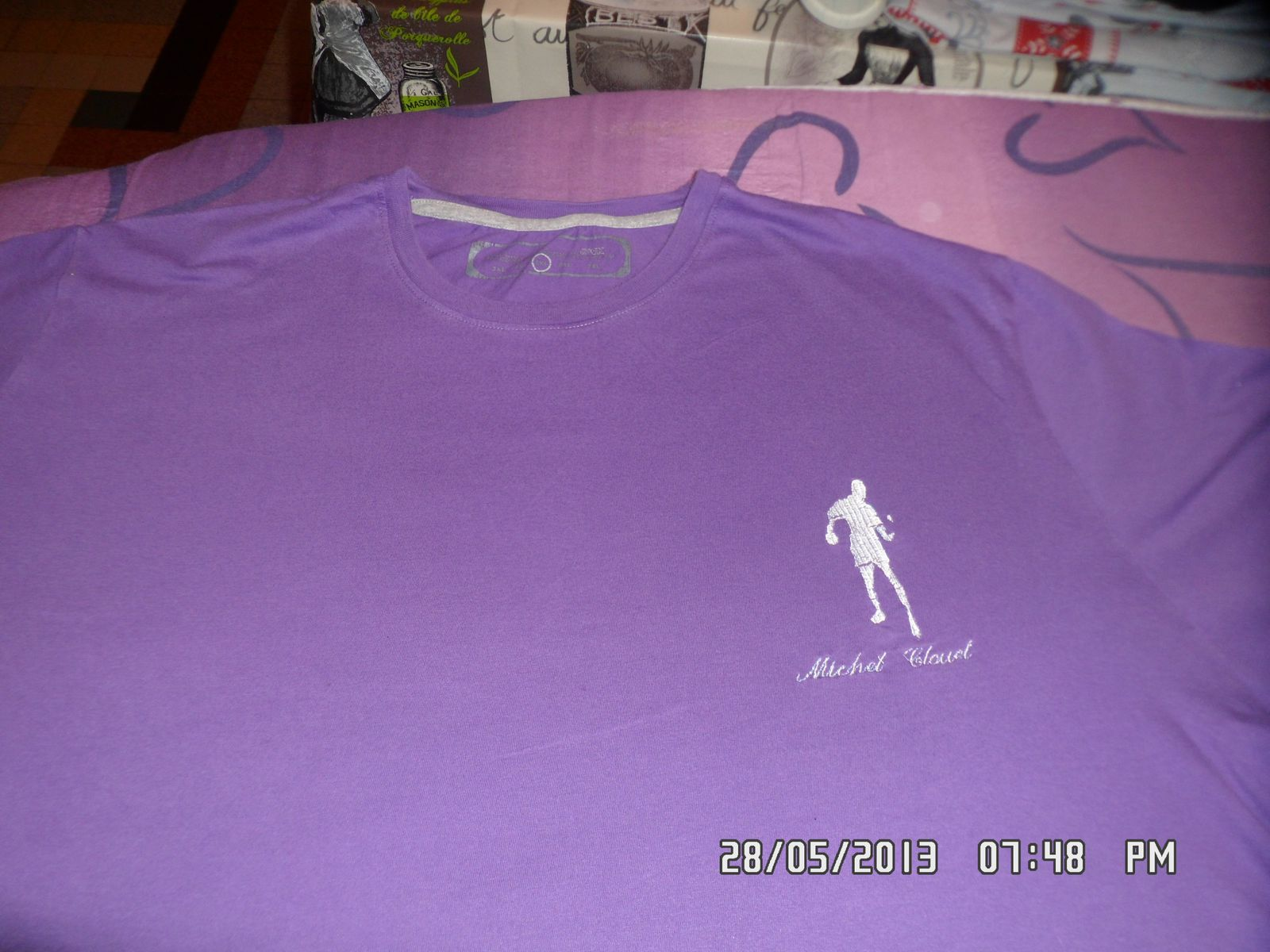 Broderie maillot tennis de table