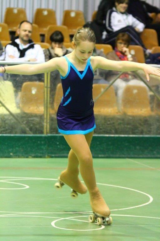Podium d'Eloïse lors des championnats de France de patinage à roulettes