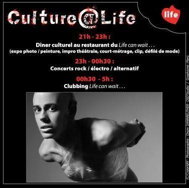 Soirée Culture @ Life, le jeudi 8 juin prochain