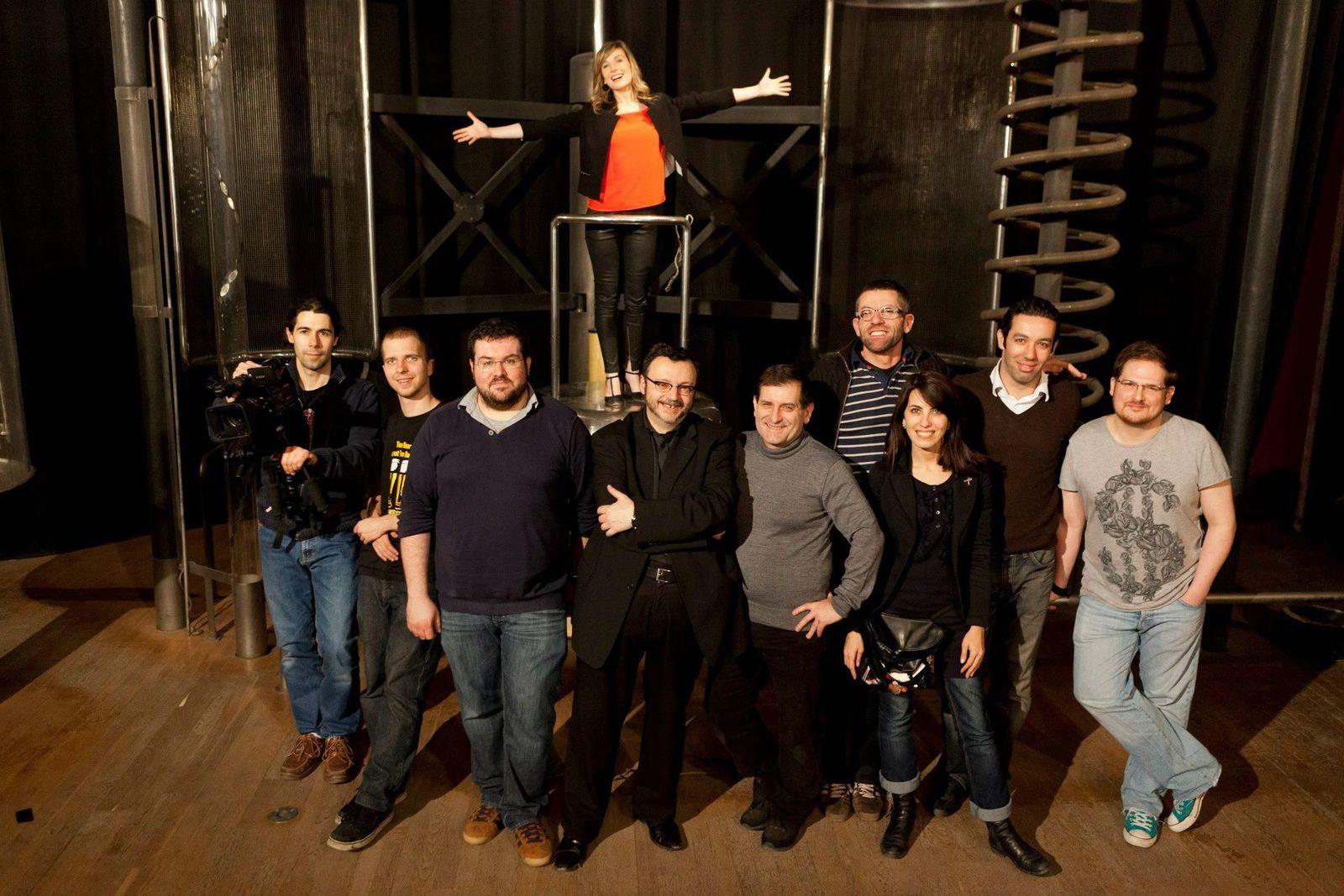 L'équipe de tournage de la Nuit Doctor Who