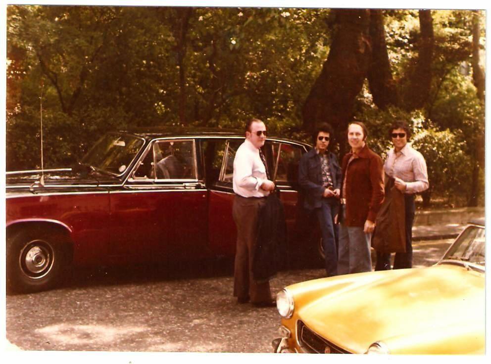 1973 - Tournée en Grande Bretagne : Gerry avec Claude et Sacha