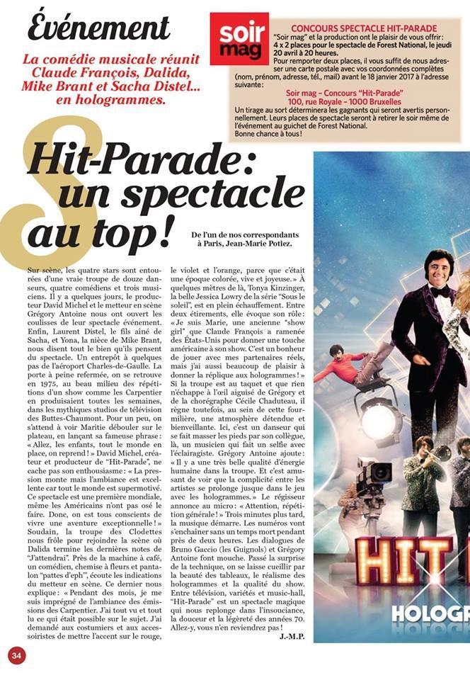 Soir Mag - Hit Parade : un spectacle au Top !