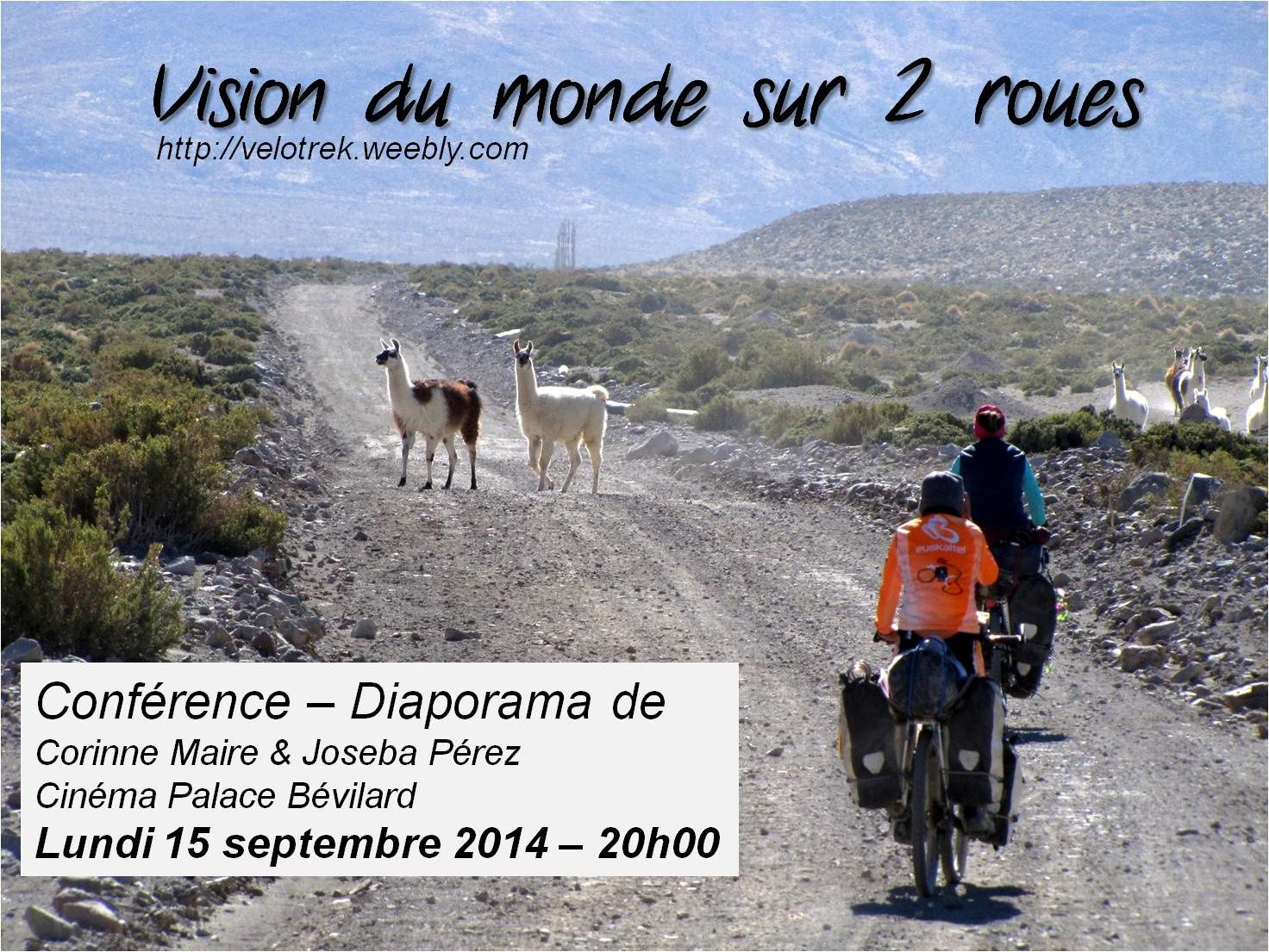 CONFERENCE: Cinéma Palace Bévilard, 15 septembre 2014 20h